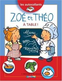 Zoé et Théo à table
