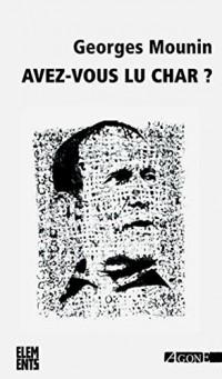 Avez-Vous Lu Char?