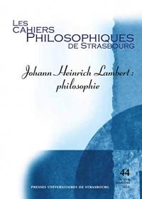 Johann Heinrich Lambert - Philosophie