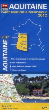 Aquitaine, Carte Régionale Routiere Touristique N 113. Plan de Ville de Bordeaux 1/200000
