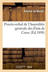 Proces Verbal des Etats de Corse  ed 1898