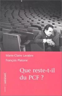 Que reste-t-il du PCF ?