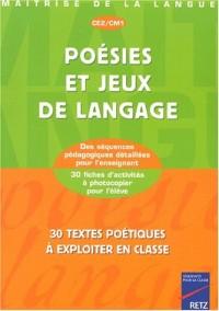 Poésies et Jeux de langage, CE2, CM1