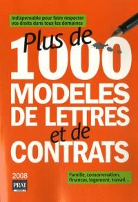 Plus de 1000 modèles de lettres et de contrats