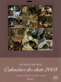 Calendrier Chats 2008 (un Puzzle par Mois)