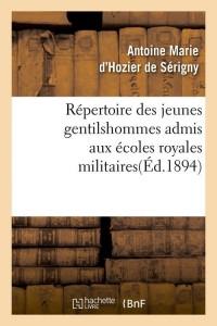 Repertoire des Jeunes Gentilshommes  ed 1894