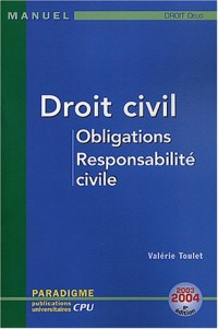 Droit civil, Obligations, Responsabilité civile : DEUG Droit