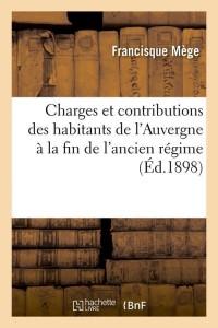 Charges des Habitants de l Auvergne  ed 1898