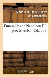 Funerailles de Napoleon III  ed 1873
