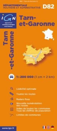 D82 Tarn-et-Garonne 1/200.000