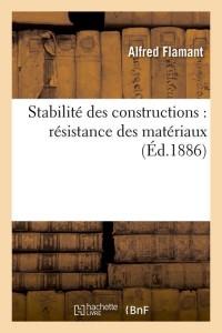 Stabilite des Constructions  ed 1886