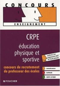 CRPE éducation physique et sportive : Concours de recrutement de professeur des écoles