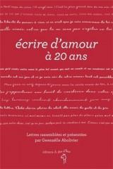 Ecrire d'Amour a 20 Ans