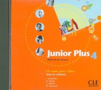 CD AUDIO JUNIOR PLUS NIVEAU 4 Livre scolaire