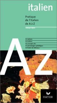 L'Italien de A à Z, édition 2003