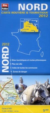 Nord,Carte Régionale Routiere Touristique N 101. Plan de Ville de Lille 1/200000