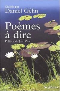 Poèmes à dire