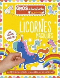 Licornes magiques : Gros autocollants
