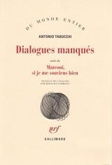 Dialogues manqués/Marconi, si je me souviens bien