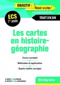 Les cartes en histoire géographie 1re année ECS : Manuel de cartes