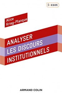 Analyser les discours institutionnels