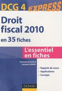 Droit fiscal DCG 4 en 35 fiches