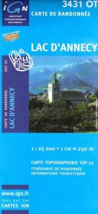 Carte de randonnée : Lac d'Annecy
