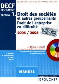 Droit des sociétés et autres groupements : Droit de l'entreprise en difficulté (1Cédérom)