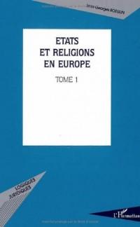 Etats en religions en Europe. : 1