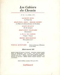 Les Cahiers du chemin 30, 15 avril 1977
