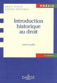 Introduction Historique au Droit 3ed