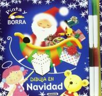 Dibuja en Navidad : (pinta y borra)