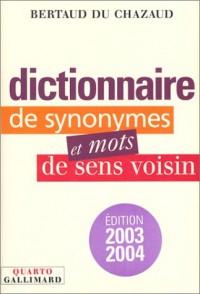 Dictionnaire de synonymes et mots de sens voisin (Quarto)
