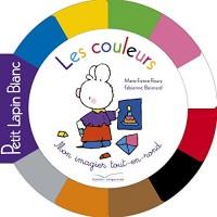 Tout carton rond Petit Lapin Blanc - Les couleurs