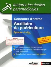 Concours d'entrée Auxiliaire de puériculture : Epreuve écrite