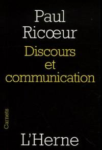 Discours et communication