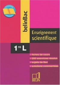BelinBac : Enseignement scientifique, première, Bac L