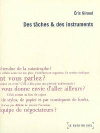 Des tâches & des instruments