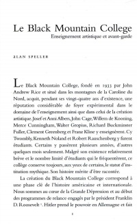 Le Black Mountain College