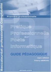 Pratique Professionnelle sur Poste Informatique 1e professionnelle Baccalauréat professionnel Comptabilité : Travaux professionnels de synthèse, Guide pédagogique