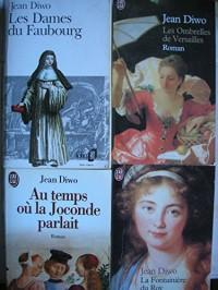 lot 4 livres jean diwo : les ombrelles de versailles - les dames du faubourg - la fontainiere du roy - au temps ou la joconde parlait