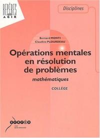 Opérations mentales en résolution de problèmes mathématiques