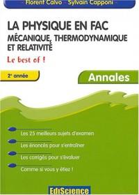 La Physique en Fac : Mécanique, thermodynamique, relativité - Le Best Of ! - 2e année