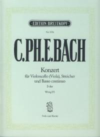 BACH C.P.E. - Concierto en Sib Mayor (WQ.171) para Viola (Violoncello) y BC (Klengel)