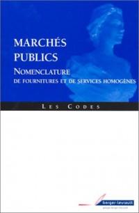 Marchés publics : Nomenclature de fournitures et de service homogène