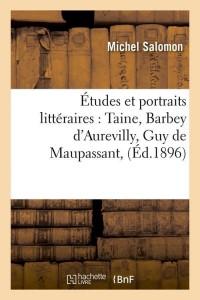 Etudes et Portraits Litteraires  ed 1896