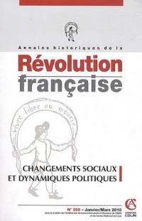 Comportement sociaux et dynamiques politiques (1780-1815), nº 359, 1/2010