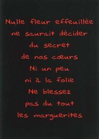 CP Rouge Noir a Fleur de Peau