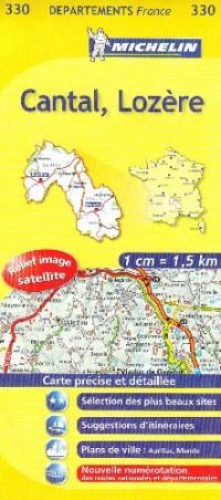 Cantal, Lozère : 1/150 000