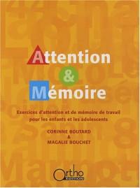 Attention & Mémoire : Exercices d'attention et de mémoire de travail pour les enfants et les adolescents (1Cédérom)
